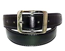 SANSHUL MEN BELT (SO-40 BLACK 30-42 INCH)