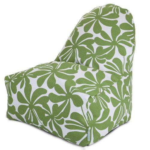 Majestic Home Goods Kick-It Chair, Plantation, Sage front-561312