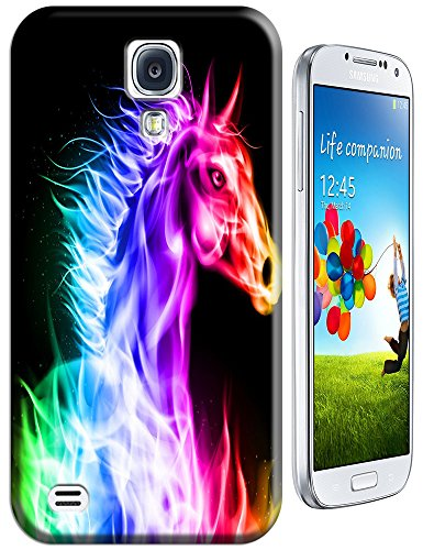 The Hallowmas Gift With Beautiful Fire Flowers Horses Dragon Nice Fashion Cell Phone Cases Design Special For Samsung Galaxy S4 I9500 No.9