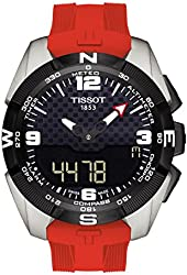 Tissot T-Touch Expert Solar Black Dial Red Rubber Men's Watch T0914204705700