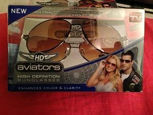 "Idea Village Products Hdava12brnz ""Aviator"" High Definition Sunglasses"