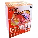 Tdk Dvd-Rw Jewel Case 4.7gb T18891 10PK