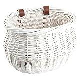 "Sunlite Willow Bushel Strap-On Basket, 13 x 8 x 9"", White"