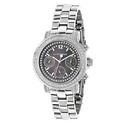 LUXURMAN 2346 - Reloj para mujeres, correa de acero inoxidable color plateado