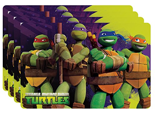 Zak! Designs Placemat with Teenage Mutant Ninja Turtles Graphics, Set of 4, BPA-free Plastic - 1