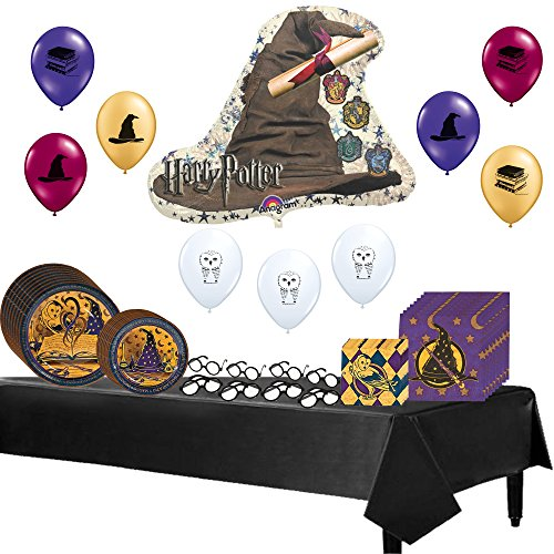 [Harry Potter Theme Party Tableware and Balloons Supply Pack] (Sorting Hat From Harry Potter)