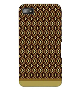 PrintDhaba Pattern D-1591 Back Case Cover for BLACKBERRY Z10 (Multi-Coloured)