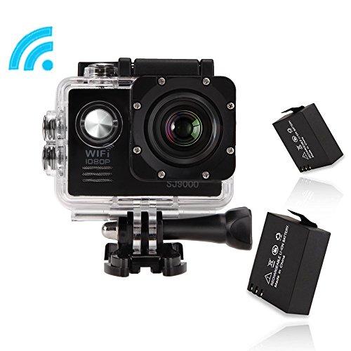 GBB SJ9000 Kit da 14 MP impermeabile di sport d'azione fotocamera con accessori (17 articoli) - Nero