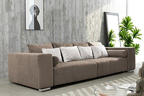 Modernes Schlafsofa Sofa Couch Big Sofa in braun Schlaffunktion - Athen thumbnail