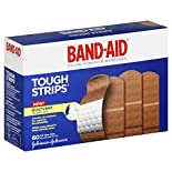 Band Aid Tough Strips Adhesive Bandages, All One Size, 60 bandages