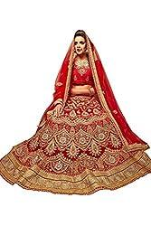 Manvaa Women Net Lehenga Choli(Red_ASMMTZ7006B_Free Size)