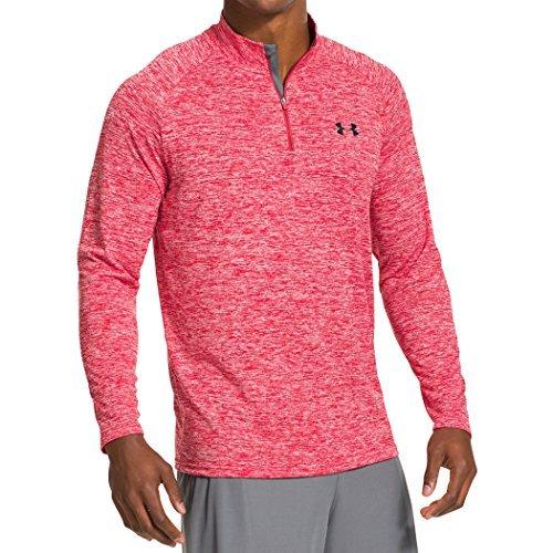under-armour-mens-ua-tech-1-4-zip-long-sleeve-shirt-red-lg