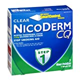 Nicoderm CQ Stop Smoking Aid - Step 1 - 7 Clear Patches (1 Week Kit) - Pack of 2