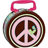 "Amscan Hippie Chick Birthday Party Metal Box Favor (1 Piece), 6 1/4"" x 5 3/4"" x 3"", Pink"