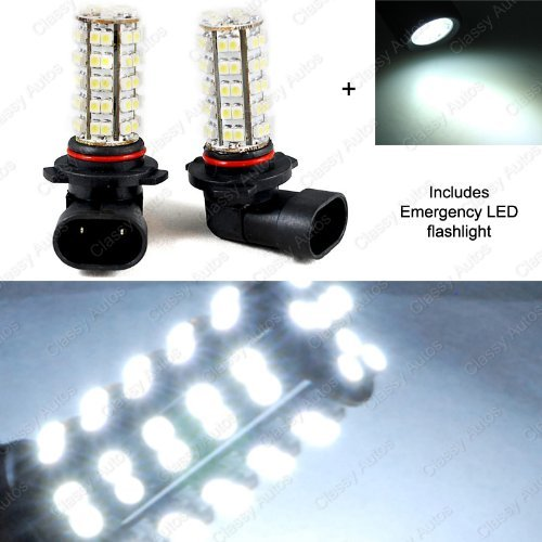 Classy Autos White 9005 Led Bulbs 68 Smd For Subaru Daytime Running Lights High Beam (A Pair)