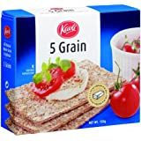 Kavli Crispbread, Five Grain, 5.29-Ounce Boxes (Pack of 12)