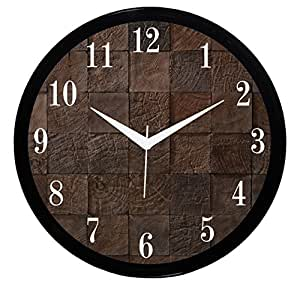 Buy It2m 11 Round Wooden Look Wall Clock With Glass For Home Bedroom Living Room Kitchen