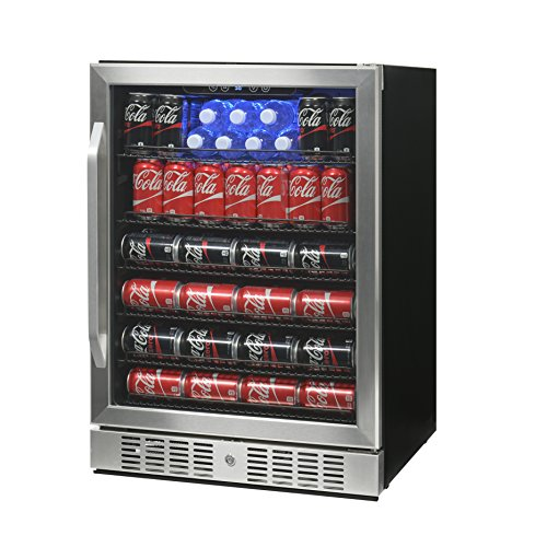 NewAir ABR-1770 177 Can Deluxe Beverage Cooler, Black/Stainless Steel (Abr Fridge compare prices)