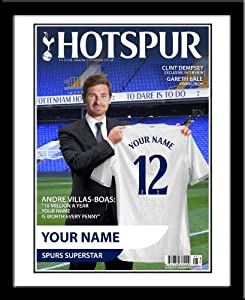 Tottenham FC Football Gift YOUR NAME & NO on the Official Hotspur Magazine