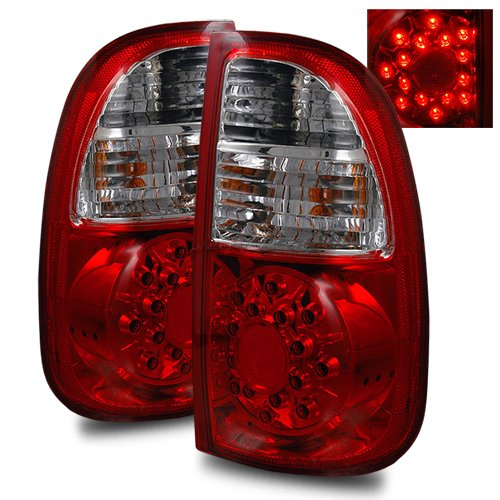 Toyota Tundra Regular/Access Cab Red/Clear Led Tail Lights