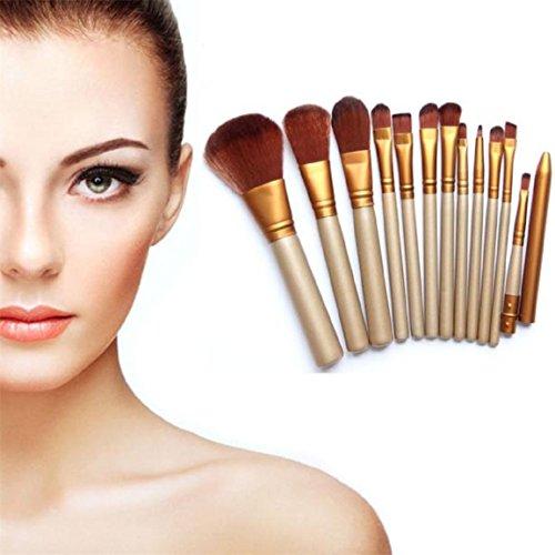 Malloom® Pro Pinceaux De Maquillage De 12pcs Fixer Fond De Teint Poudre Outil De Pinceau à Lèvres Fard à Paupières Eyeliner