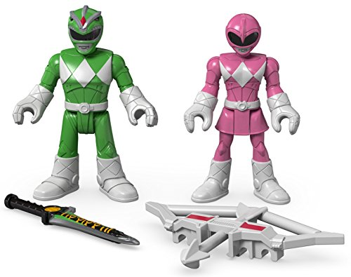 Fisher-Price Imaginext Power Rangers Green Ranger & Pink Ranger Figures - 1