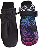 N'Ice Caps Girls Multi Shaded Scroll Print Thinsulate And Waterproof Mitten