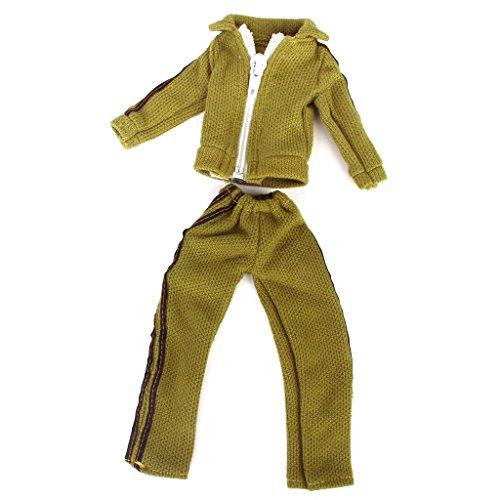 Puppe Kleidung Lässige mit langen Ärmeln Mantel mit Reißverschluss und Hosen mit Gummizug