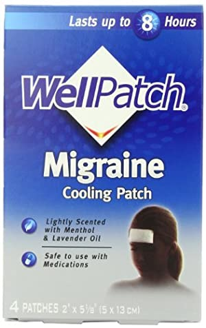 WellPatch Cooling Headache Pads, Migraine, 4 - 2 x 5 1/8-Inch Pads