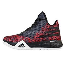 adidas Performance Men\'s Light Em Up 2 Basketball Shoes,Black/White/Scarlet,9 M US