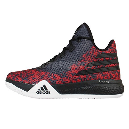 adidas Performance Men's Light Em Up 2 Basketball Shoes,Black/White/Scarlet,10 M US