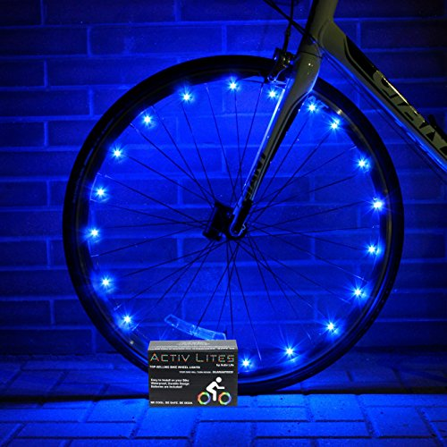 Super Cool Blue LED Bike Wheel & Frame Lights - Brighten Your Bicycle Rims, Spokes or Tubes for Safety, Fun & Style - Fast Easy Install - Batteries Included - 100% (Light Bike Led compare prices)