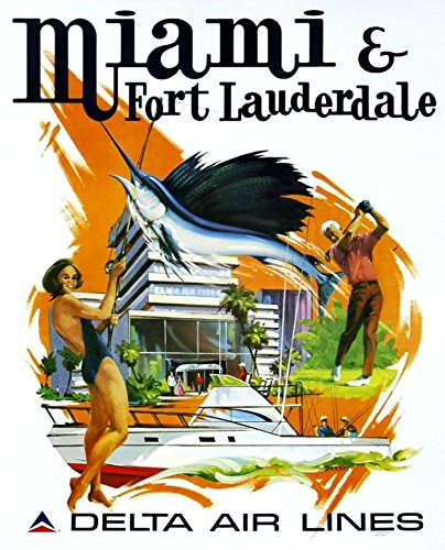 delta-air-lines-miami-fort-lauderdale-wonderful-a4-glossy-art-print-taken-from-a-rare-vintage-travel