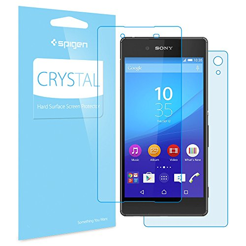 Xperia Z4 フィルム, Spigen®  高い 透明度  液晶保護フィルム 前面2枚 背面1枚 SONY Xperia Z4 クリスタル クリア (2015) (国内正規品) (クリスタル クリア SGP11538)