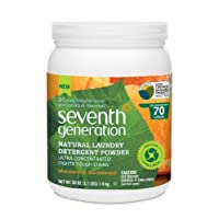 Seventh Generation  Natural Laundry Detergent Powder, Mandarin and Sandalwood, 50 Ounce