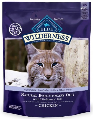 See Blue Buffalo Wilderness Grain Free Dry Cat Food, Chicken Recipe, 12-Pound Bag