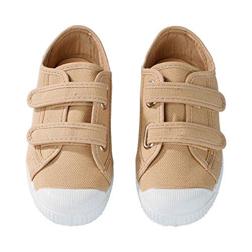 NATURAL WORLD Les sneakers chaussures de sport enfant, taille 22, beige