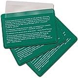 3-Pack Credit Card Size Pocket Fresnel Lens - Magnifier Lenses for Fire Starting