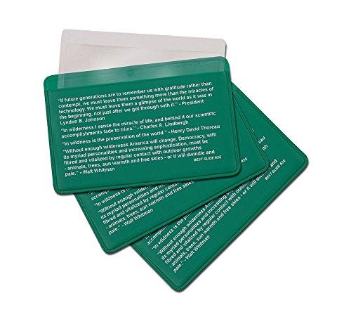 3-Pack Credit Card Size Pocket Fresnel Lens - Magnifier Lenses for Fire Starting - 1