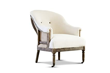 Round retro armchair Léonie