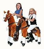 """UFREE HORSE 44"""" groß Kinderfahrzeug, Pferd auf Rädern, Reitpferd, Weihnachtensgeschenk für Kinder 4-15(Weiß Mane & Tail)"""