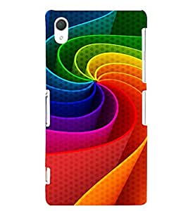 colourful elliptical pattern 3D Hard Polycarbonate Designer Back Case Cover for Sony Xperia Z2 :: Sony Xperia Z2 L50W D6502 D6503