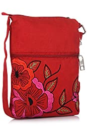 pick pocket Womens Sling Bag Multi-Color (slredpink54)