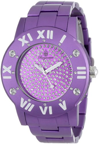 Burgmeister Aluminium Magic Women's Quartz Watch with Purple Dial Analogue Display and Purple Bracelet BM163-090A