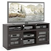 Hot Sale B-602-BWT West Lake 60-Inch Television Bench, Mocha Black