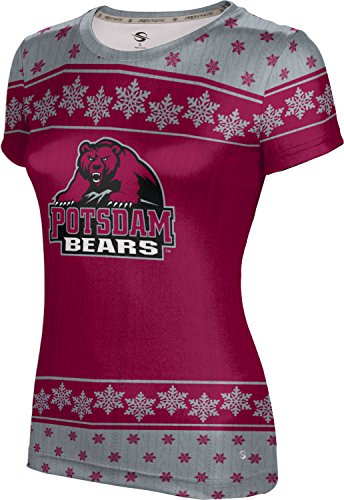 Women's State University of New York at Potsdam Ugly Holiday Snowflake Tech Tee