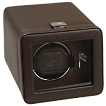 Wolf Designs Module 2.5 Windsor Single Watch Winder with Cover, Brown