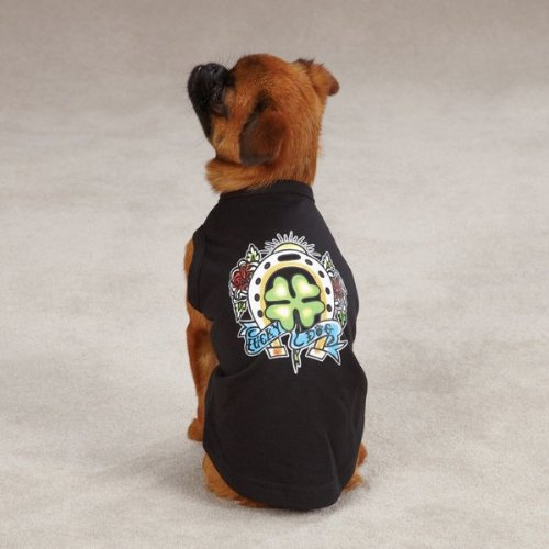 East Side Collection 20-Inch Cotton/Polyester Tattoo Dog Tees, Large, Clover