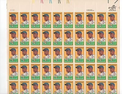 Jackie Robinson Sheet of 50 x 20 Cent US Postage Stamps NEW Scot 2016