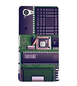 Mother board 3D Hard Polycarbonate Designer Back Case Cover for Sony Xperia Z5 Premium :: Sony Xperia Z5 Premium Dual